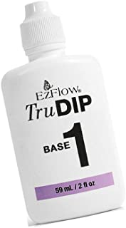 New TruDIP - 3-Step Acrylic Dip System Step 1 - BASE Self-leveling, medium viscosity resin formulated to adhere to the nails and absorb the correct ratio of power: 2 fl.oz