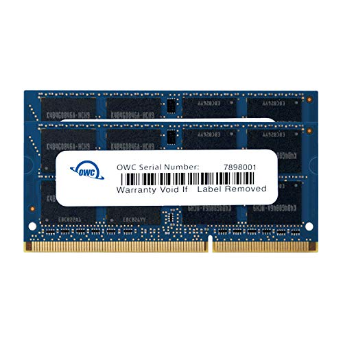 OWC 16GB (2x8GB) PC3-12800 DDR3L 1600MHz SO-DIMM 204 Pin CL1