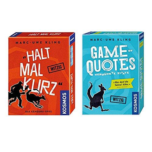 KOSMOS 2er Set 692926 740382 Game of Quotes + Kartenspiel Halt mal kurz