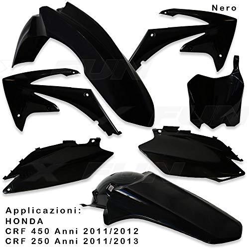 x-fun kit Plásticos HON crf 450(11> 12) Negro