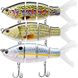 "TRUSCEND Fishing Lures Swimbait Bass, 10cm 3.93"" Fishing Lures Crankbait Jointed Trout Swimbait Mustad Hooks (Combo C)"