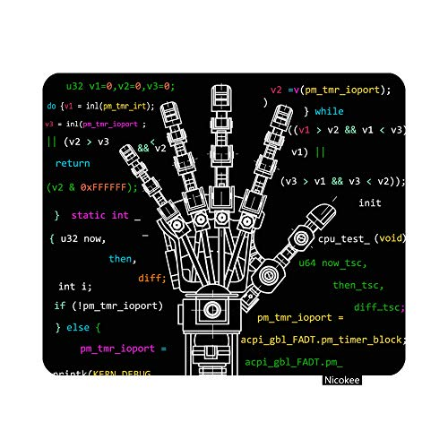 Nicokee Gaming Mouse Pad The Drawing Model of Robot Arm Robotics Ideas Artificial Intelligence Bionic Prostheses Science Non-Slip Rubber Mouse Pad for Computers, Laptop, Office 9.5 Inch x 7.9 Inch