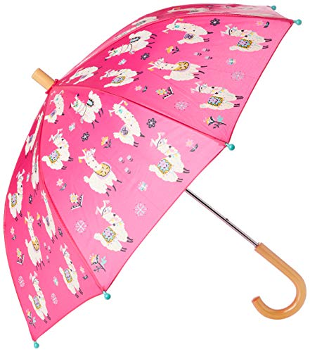 Hatley Mädchen Printed Umbrellas Regenschirm, Hübsche Alpakas, One Size