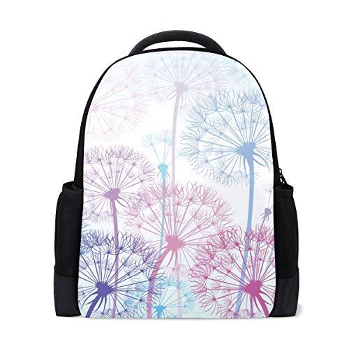 Ahomy Reise-Laptop-Rucksack Pusteblume Daypack Büchertasche Schultasche für Mädchen Jungen Teenager
