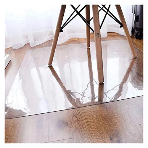 ALGXYQ Protector Alfombra Transparente Alfombrilla para Silla de Oficina Casa Plástico Protector de PVC Alfombrilla Protectora Suelo (Color : Clear-1.5mm, Size : 80x120cm)