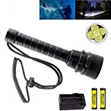Best Dive Torches - BESTSUN Brightest Diving Flashlight, 5X CREE XM-L2 10000 Review