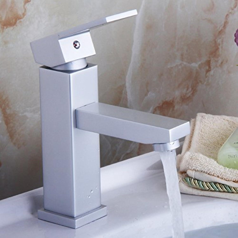 ETERNAL QUALITY Badezimmer Waschbecken Wasserhahn Messing Hahn Waschraum Mischer Mischbatterie Tippen Sie auf Bad Armatur Square Mischbatterie Küchenspüle Armaturen