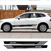 JIERS ボルボXC40 XC60 XC90の車のサイドストライプステッカーオートスポーツスタイリングデカール装飾アクセサリー車のステッカー