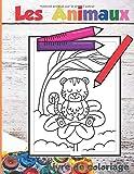 """Les animaux Livre de coloriage: 25 coloriages sur le thème des animaux€"""" Format 21 X 27,9 cm €"""" Dessins grand format et facile à colorier €"""" Couverture ... enfants - A partir de 3 ans (French Edition)"""