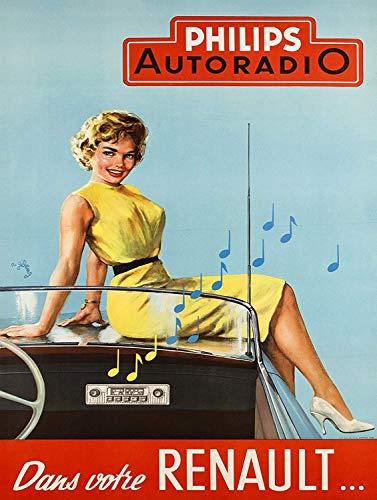 Noly Philips Autoradio Retro Plaque wandtinnen teken IJzeren Schilderen Vintage Aluminium Sheet Waarschuwing Metalen Poster Voor Bar Garage Thuis Bruiloft Verjaardagscadeau