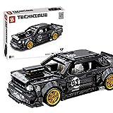 12che Technic Voiture Compatible avec Lego Technic Modèle de Blocs de Construction Supercar Voiture de Sport Technic pour 1965 Ford Mustang