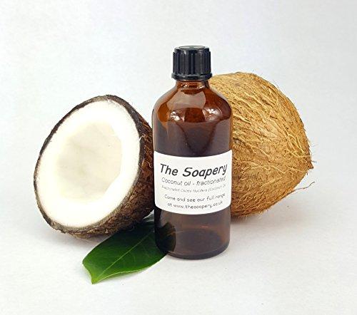 Aceite de coco fraccionado, 100 ml, aceite base 100 {fe24965704b84ac0836825b9d95244ca76cbf75e02fd3c3b0e75cc71c3230d40} puro y natural para tratamientos de piel y cabello