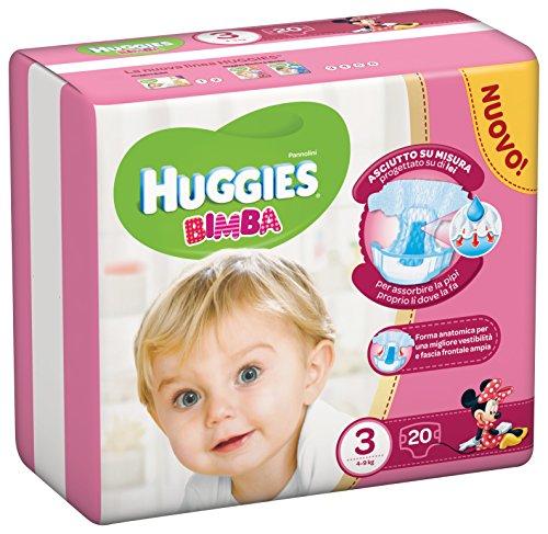 Huggies Mädchen, Größe 3(4–9kg), 20Windeln