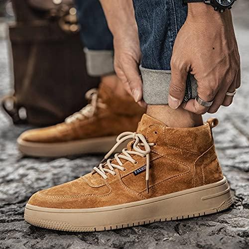 N\C Zapatos de hombre Marea Botas de alta Martin Británicas Herramientas Casual Zapatillas de cuero