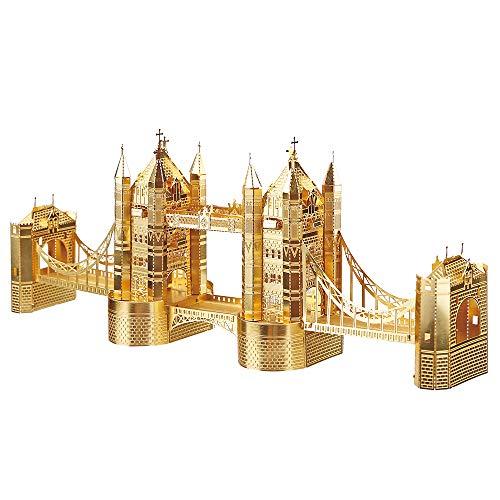 Piececool 3D Metal Model Kits-London Tower Bridge-Famous Architecture Model Kit-DIY 3D Metal Puzzle...