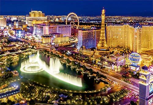 WDZSHLGG Puzzle Las Vegas Night Puzzle Decorazione Domestica Creativa Fai-da-Te
