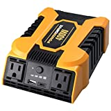 400 watt power inverter - POWERDRIVE Improved & Updated 400W Power Inverter with 2 AC outlets and Dual Ports, USB 2.4A and USB-C 3.0A