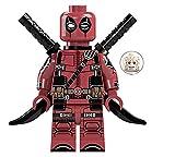 Deadpool Kawaii Mini Figure X-Men Series Marvel Superhero Comic Book Character Movie Red & Black