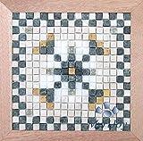 Mini mosaico in marmo fai da te Fiore Geometrico - Idea regalo originale - Hobby creativi artesania - Kit d'arte per adulti - Passatempo antistress - Quadro fatto da me - Livello facile