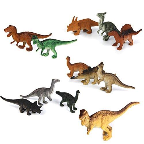 Pixnor Mini dinosaures 12pcs Figurines Dinosaures PVC modèle dinosaure Figurines enfants jouet