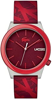 Lacoste Men's Red Dial Silicone Band Watch - 2010933