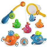 ZHENDUO Baby Badespielzeug, Mold Free Fishing Games Wasserbecken Badespielzeug für Kleinkinder...
