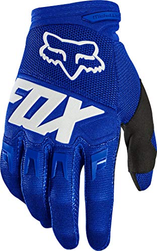 Fox Racing Mens Dirtpaw Glove - Race, Blue/White, Medium