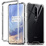 OnePlus 7 Pro Case, IDweel Crystal Clear Soft TPU Transparent Bumper Shock Absorption Technology Raised Bezels Slim Protective Cover for OnePlus 7 Pro (HD Clear)