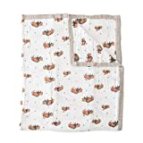 """Little Unicorn – Bison Cotton Muslin Quilt X-Large Blanket   100% Cotton   Super Soft   Toddlers and Adults   X-Large 60"""" x 72""""   Machine Washable"""