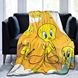 GIPHOJO T-weety B-ird Ultra-Soft Micro Fleece Blanket Throw Fuzzy Lightweight Hypoallergenic Plush for Kids Boys Girls Adults 3D Fashion Print Blanket Perfect for Couch, Sofa, Bed,50' x40