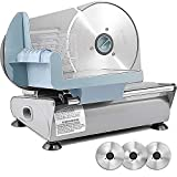 Meat Slicer for Home, Sophinique Electric Deli Food Slicer with 3 Removable 7.5'' Stainless...
