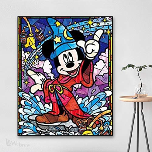 "5D Diamond Painting, 30x40cm(11.8"" x15.7"") Full Diamond Embroidery Rhinestone Cross Stitch Arts Craft Supply for Home Wall Decor (Mickey Mouse)"