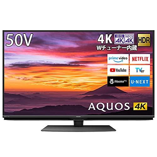 シャープ SHARP 4K チューナー内蔵 液晶 テレビ Android TV HDR対応 AQUOS N-Blackパネル 50V型 4T-C50BN1