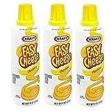 3 KRAFT EASY CHEESE CHEDDAR IN CAN 8oz