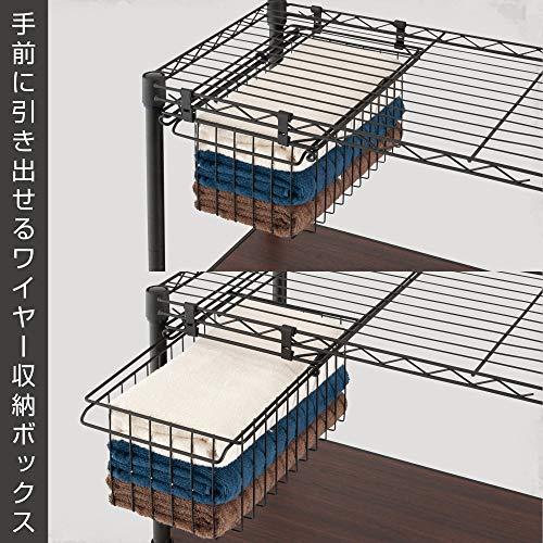 こちらはフックで棚に引っ掛け、手前に引き出して使えます。出し入れのストレスがなく、片付けが楽しくなるかも!いくつか揃えて、統一感のある収納スペースを作りましょう。