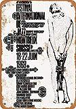 BIT SITNG Montreux Jazz Festival Vintage Metall Blechschild