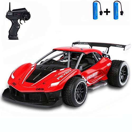 SZJJX Coche de Control Remoto 1:16 Coche RC 2,4 GHz de Alta Velocidad 15 KM / H 4WD Coche de Carreras con Juguetes de Regalo para niñas y niños