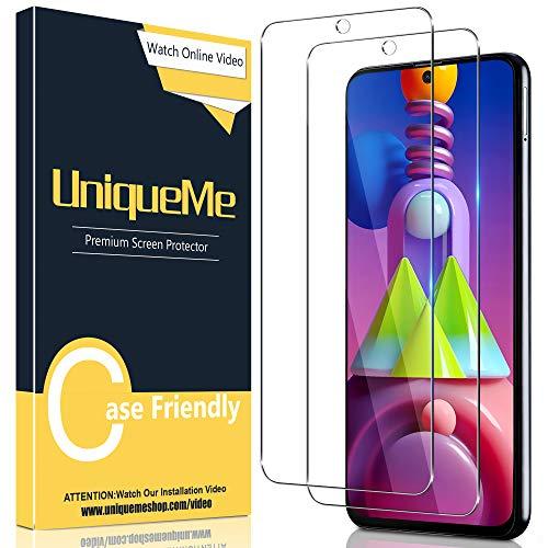 UniqueMe [2 Stück] Schutzfolie für Samsung Galaxy M51 Panzerglas mit Installationswerkzeug, [Einfache Installation] Gehärtetem Glas Samsung Galaxy M51 Displayschutzfolie.