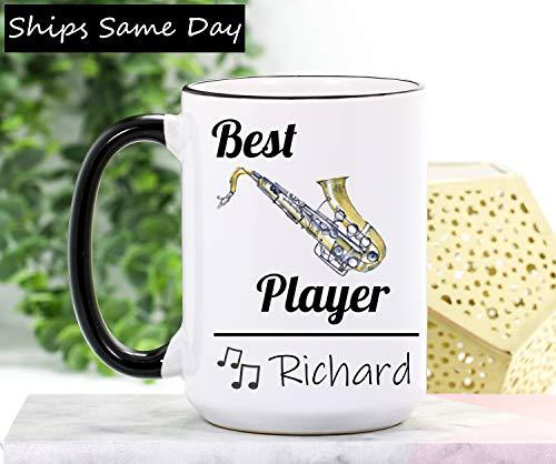 Ol322ay saxofoon beker saxofoon geschenken saxofoon spelersgeschenk saxofoon koffiemok muzikant-geschenken band-leraar-geschenkband schaal muziekbeker