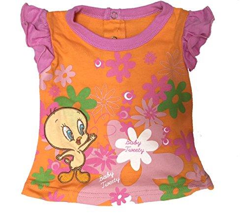 Looney Tunes Looney Tunes Baby Mädchen (0-24 Monate) Top Mehrfarbig Arancio 3 Monate