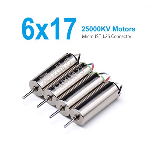 BETAFPV 4pcs 6x17mm FPV Motor 25000KV Brushed Motors for Micro FPV Tiny Whoop Beta65 Blade Inductrix Quadcopter etc