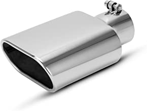 NETAMI NT-2375 DOUBLE WALL BLACK CHROME STAINLESS STEEL EXHAUST TIP 2.25 Inlet//3.5 Outlet