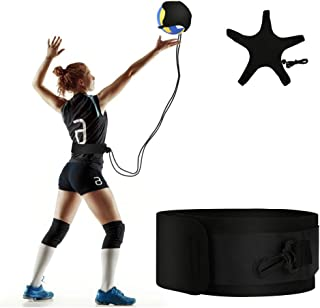 LINGSFIRE Volleyball Training Equipment Aid, Adjustable Waist Belt Volleyball Trainer Elastic Soccer Volleyball Hitting Tr...