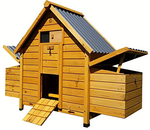 COCOON CHICKEN COOP HEN HOUSE POULTRY ARK NEST BOX NEW & ECO PLASTIC ROT FREE ROOOFS - MODEL ECO 600-2N WITH SECURE NEST BOX FLOOR & CLEANING TRAY (NO SHIPING TO NORTHERN IRELAND, ISLANDS, SCOTTISH HIGHLANDS)
