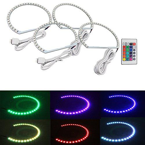 Syneticusa Multi-Color RGB LED Angel Eye Halo Rings for E39 E46 3 5 7 Series Headlight