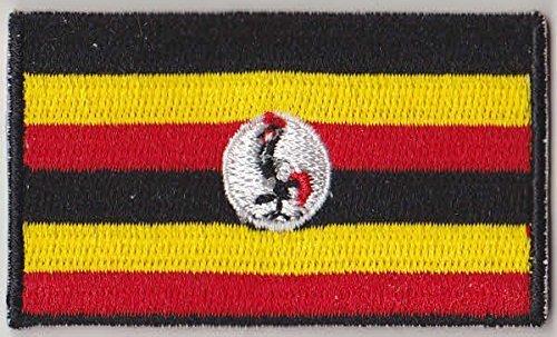Flaggen Aufnäher Patch Uganda Fahne Flagge - 6 x 3.5 cm