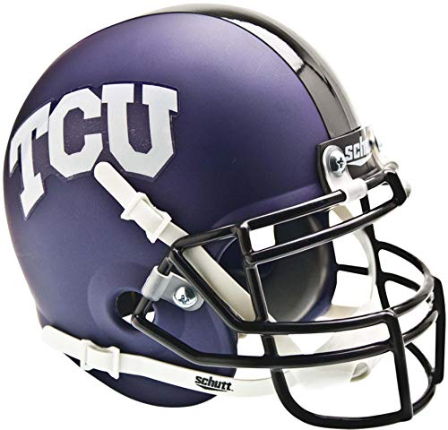 TCU Horned Frogs Schutt Purple Matte Mini Football Helmet - College Mini Helmets