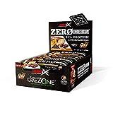 AMIX - Barritas de Proteínas Zero Hero - 12 barritas - Favorece la Recuperación Muscular - Snack Deportivo con Alto Contenido en Proteínas - Sabor Crema de Cacahuete
