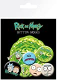 Rick and Morty Characters Button-Pack Mehrfarbig -