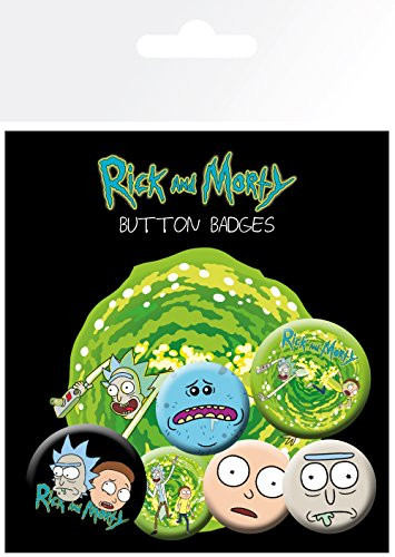 Rick and Morty Characters Button-Pack Mehrfarbig